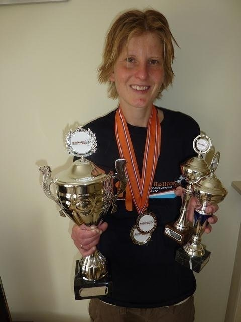 Emma with trophies from Holland 2012
